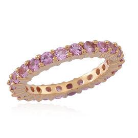 Web Exclusive ILIANA 18K Yellow Gold AA Pink Sapphire (Rnd) Full Eternity Ring 2.000 Ct.