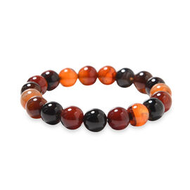 Multi Agate Beaded Stretchable Bracelet (Size 6.5) 134.00 Ct.