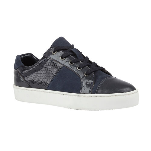 Lotus Stressless Navy Leather Sherlyn Casual Trainers (Size 3)