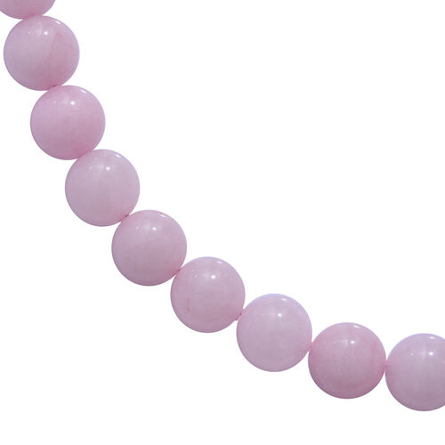 One Time Deal - Galilea Rose Quartz Necklace (Size 20) and Bracelet (Size 7) in Magnetic  Sterling Silver 550.00 Ct.