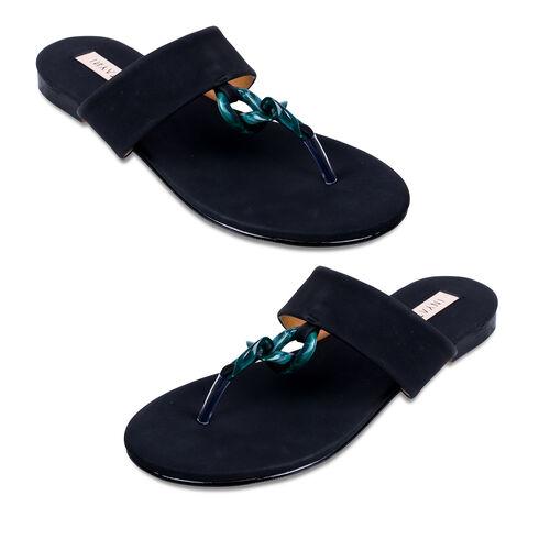 Inyati Leandra Open Toe Slip On Sandals (Size 4) - Black
