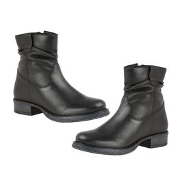 Lotus Black Leather Eloisa Ankle Boots