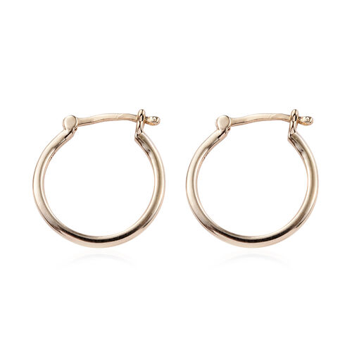 9K Yellow Gold Hoop Earrings (with Clasp Lock).Total Gold Wt 1.09 Gms