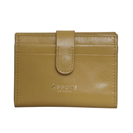 Assots London GROVE 100% Genuine Leather RFID Cardholder - Mustard