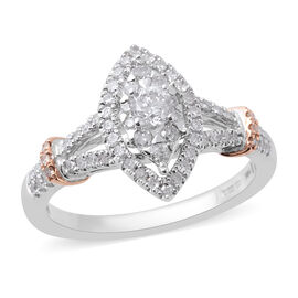 NY Close out Deal- 14K White Gold Diamond (Rnd 3.8mm) (SI-I1/G-H) Ring 0.50 Ct.