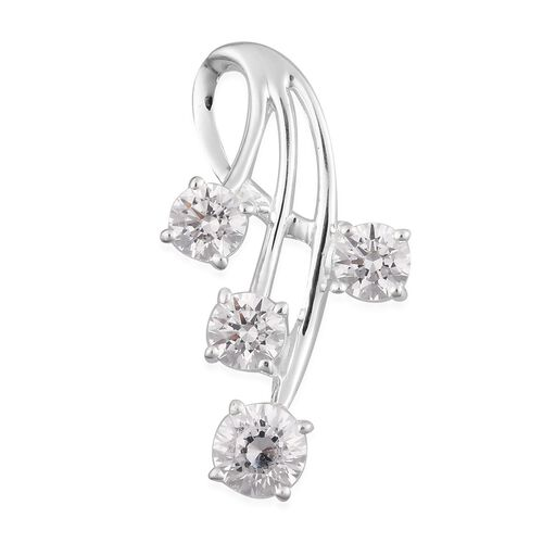 J Francis - Sterling Silver Fancy Pendant Made with SWAROVSKI ZIRCONIA 4.00 Ct.