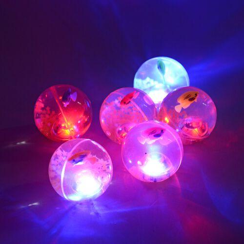6 Piece Multi Colour Shiny Bouncy Ball (Size 6.5 Cm)