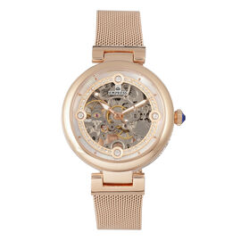 Empress Adelaide Automatic Movement White Dial 5 ATM Water Resistant Ladies Watch in Rose Gold Tone