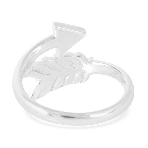 LucyQ Arrow Ring in Rhodium Plated Sterling Silver 3.03 Gms.