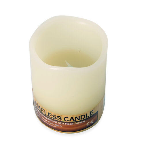 Paraffin Wax and LED Bluetooth Candle (Size 10.2x7.5 Cm) 3x AAA Batteries Needed