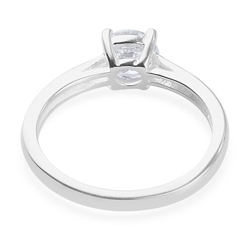 Value Buy - 2 Piece Set - J Francis Sterling Silver Solitaire Ring and Stud Earrings (with Push Back) Made with SWAROVSKI ZIRCONIA 3.00 Ct.