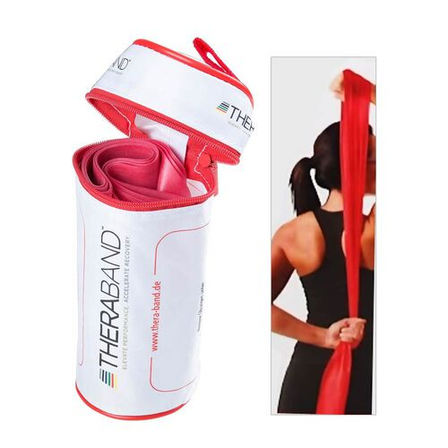 Thera-band Exercise Band in zipper Bag (2.5m) - Red