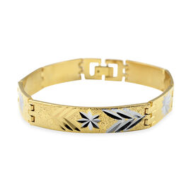 ID Bracelet (Size 8) in Yellow Gold Tone