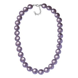 J Francis Mauve Crystal From Swarovski Beaded Necklace in Sterling Silver 18 with 2 inch Extender