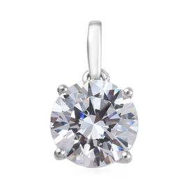 J Francis - 9K White Gold (Rnd 7 mm) Solitaire Pendant Made with SWAROVSKI ZIRCONIA 1.28 Ct.