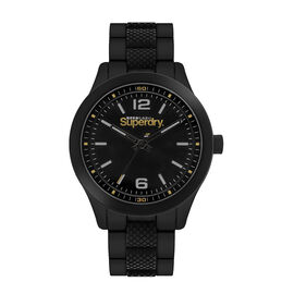 Superdry Scuba Sport Round Dial Analog Watch in Black Tone