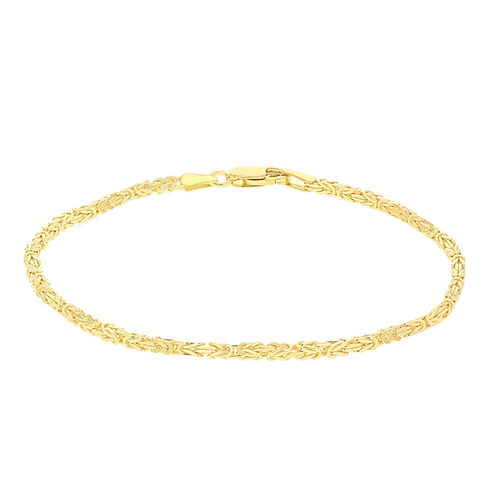 9K Yellow Gold Byzantine Bracelet (Size 7.5)