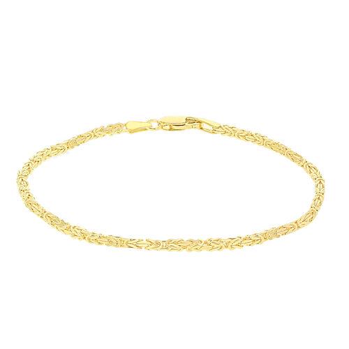 Byzantine Chain Bracelet Size 7.5 in 9K Yellow Gold 3.90 Grams