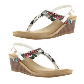 Ella Isabella Wedge Heel Sandals (Size 4) - White