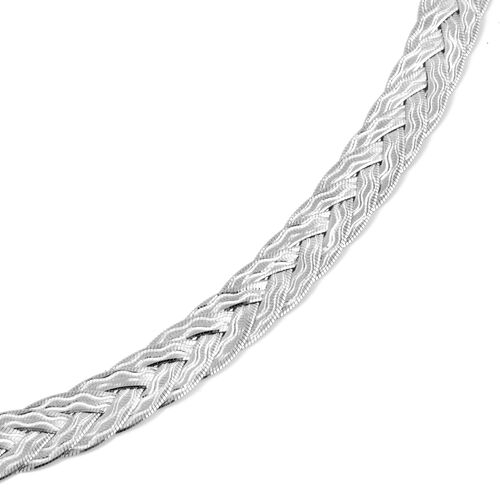 Vicenza Collection Sterling Silver Necklace (Size 18 with 3 inch Extender), Silver wt 17.87 Gms.