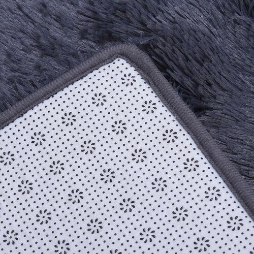 Fulffy Microfibre Faux Fur Rug with Non-Slip Bottom (140x200cm) - Dark Grey