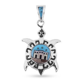 Santa Fe Collection - Multi Gemstones Pendant in Sterling Silver 0.500 Ct.