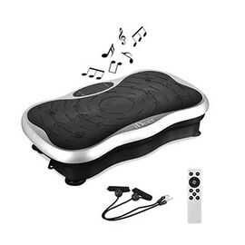 Whole Body Shape Fitness Vibration Platform With Resistance Band and Remote Control