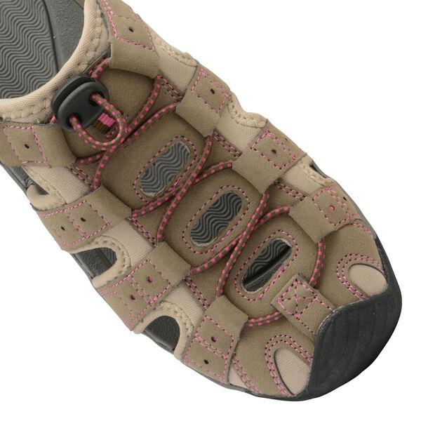 Gola Shingle 3 Closed Toe Sandal in Taupe and Hot Pink Colour