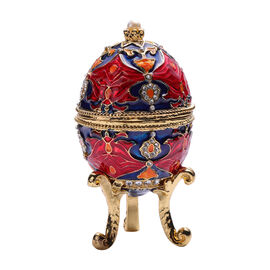 Multi Austrian Crystal Studded Enamelled Egg Trinket Box