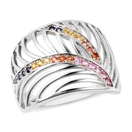 Isabella Liu Sea Rhyme Collection - Orange Sapphire, Yellow Sapphire, Madagascar Pink and Blue Sapph