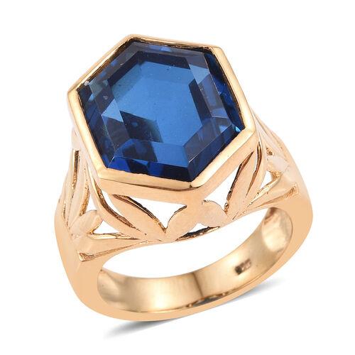Ceylon Colour Quartz Ring in 14K Gold Overlay Sterling Silver 15.000 Ct.