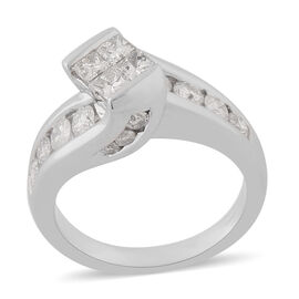 14K White Gold Natural White Diamond Ring 1.00 ct, Gold Wt. 7.70 Gms