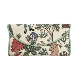 Signare Tapestry - Alice in Wonderland Envelope Purse (Size 19.5x10x3 Cm)