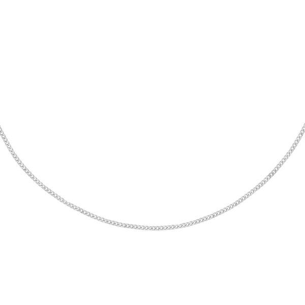 Sterling Silver Adjustable Curb Chain (Size 16 with 2 inch Extender)