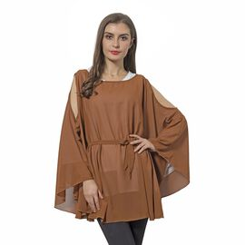 Off  Shoulder Apparel (Size 143x78 Cm) - Brown