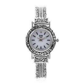 Royal Bali Collection - EON 1962 Swiss Movement Water Resistant Bracelet Watch (Size 7.25) in Sterli