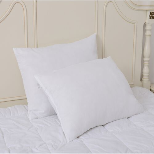 Set of 2 Antimicrobial White Colour Hollowfibre Pillow (Size 70x48 Cm)