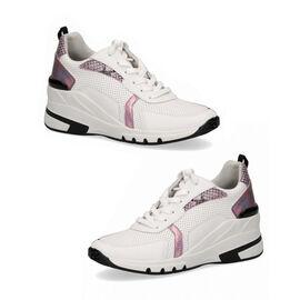 CAPRICE Sneaker High WHITE/PINK COM
