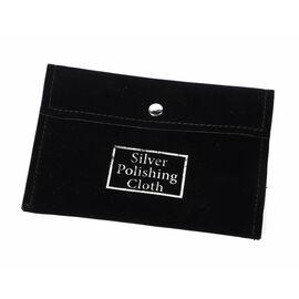 Set of 30 - Anti Tarnish Silver Polishing Cloth (Size 10.8X6.8 Cm) in Black Pouch