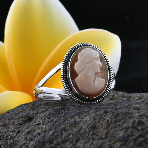 Royal Bali Collection (Ovl) Cameo Ring in Sterling Silver