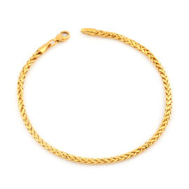 Italian Made - 22K Yellow Gold Spiga Bracelet (Size 8), Gold wt. 3.56 Gms