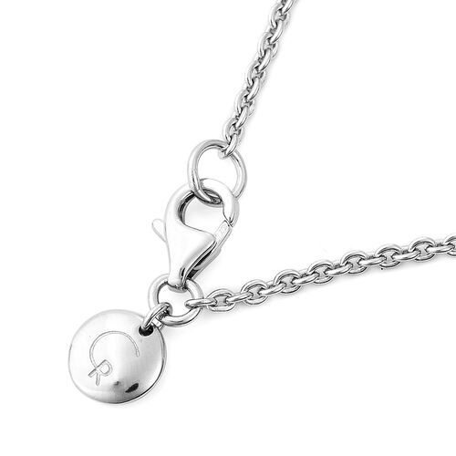 RACHEL GALLEY Sandblast Texture Collection - Rhodium Overlay Sterling Silver Pendant with Chain (Size 30)