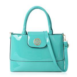 Boutique Collection Turquoise Colour Tote Bag with Detachable Shoulder Strap (Size 32x11x23 Cm)