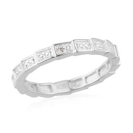 MP Diamond Band Ring in Sterling Silver