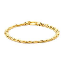 9K Yellow Gold Textured Spiga Bracelet (Size 7.5), Gold wt 6.80 Gms