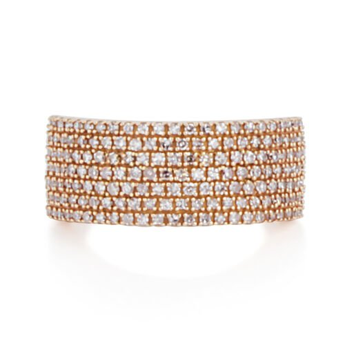 Exclusive Edition ILIANA 18K Rose Gold Natural Pink Diamond (Rnd) Ring 1.000 Ct. Gold Wt 6.59 Gms. Number of Diamond 158