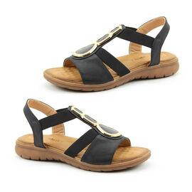 Heavenly Feet Black Palm Sandals
