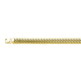 Cuban Link Chain Necklace in 14K Gold Plated Silver 44.25 Grams 20 Inch