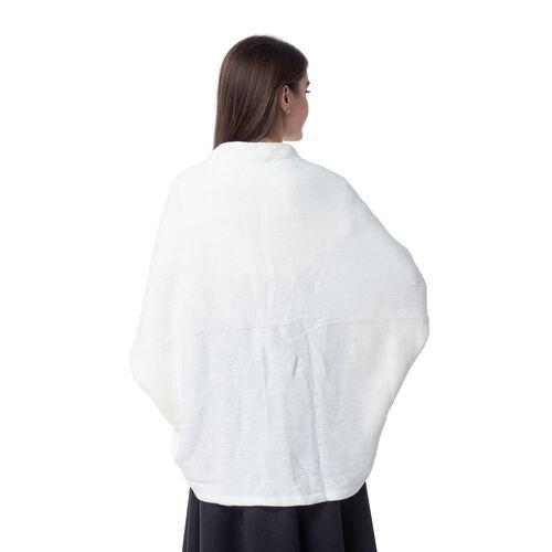 White Colour Scarf or Kimono (Size 103x36 Cm)