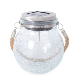 Crackle Glass Solar Powered Decor LED Light